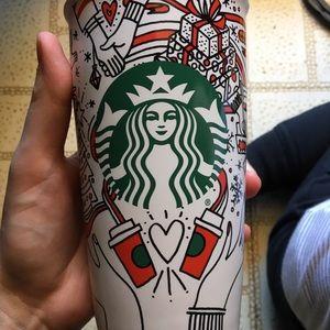 Starbucks ceramic to-go cup